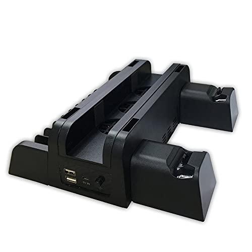 Accesorios de PS4 PS4 / PS4 Slim / PS4 Pro Consola Vertical Controlador de Ventilador de refrigeración Cargador Disco de Juego Soporte de Almacenamiento Torre