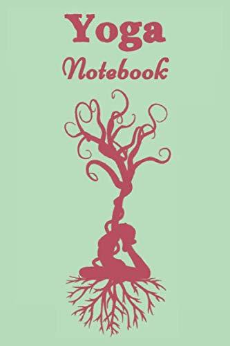 Yoga Notebook - Green - Dark Pink - College Ruled