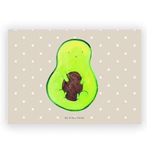 Mr. & Mrs. Panda Radiergummi Avocado mit Kern - Avocado, Avokado, Avocadokern, Kern, Pflanze, Spruch Leben Radiergummi, Radierer