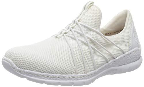 Rieker Damen Frühjahr/Sommer N22K1 Sneaker, Weiß (Weiss/Weiss/ 80 80), 40 EU