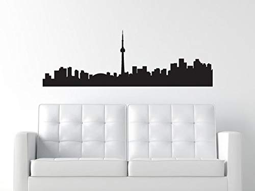 CECILIAPATER Toronto Canada Skyline Decal - Wall Decal - Ontario Canada Wall Decal - CN Tower - Matte Vinyl WAL-A113