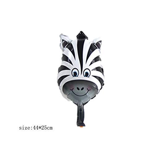 1pc 18inch Tierkopf Folienballons Mini Fox Tiger Spielzeug Geburtstagsfeier Dekorationen Kinder Handbälle Baby Dusche Partyzubehör-MN009B04 Zebra-