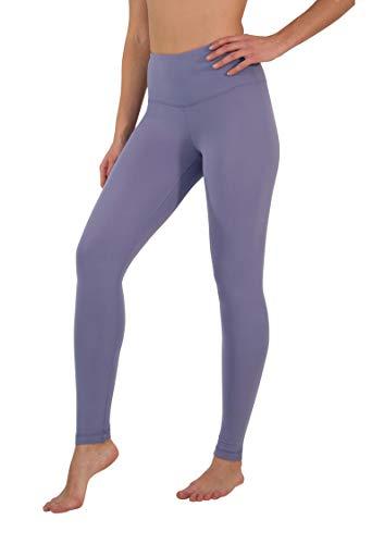 Yogalicious High Waist Ultra Soft Lightweight Leggings - High Rise Yoga Pants- Lavender Night - XS