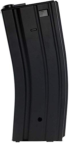 SportPro Jing Gong 300 Round Metal High Capacity Magazine for AEG M4 M16 Airsoft – Black