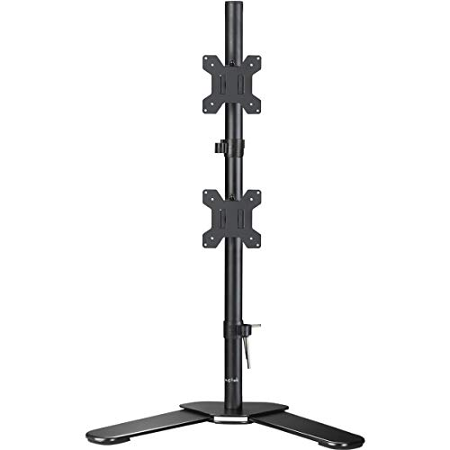 Suptek Dual LED LCD Monitor Desk Mount Heavy Duty Fully Adjustable Stand for 2 / Two Screens up to...