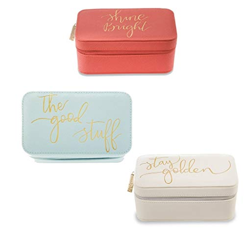 Mud Pie Women Rectangle Jewelry Cases (Coral)