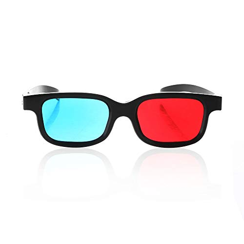 Red Blue 3D Glasses Fashion Game DVD Stereo New Black Frame Anaglyph Movie Dimensional