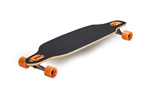 Sportbanditen City Surfer Longboard, schwarz/orange, 98cm