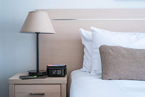 Philips R7705/10 Digital Väckarklocka med Radio FM/DAB+ (Bluetooth, Dubbelt Larm, Insomningstimer, Automatisk Tidssynkning, Reservbatteri, Trådlös Telefonladdare) - 2020/2021 Modell