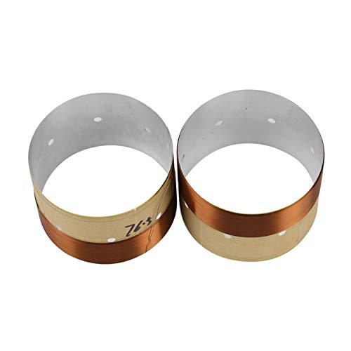 WNJ-TOOL, 2 stücke Lautsprecher bass stecken Spule 4inch 6,5 Zoll 10 Zoll 18 Zoll subwoofer Lautsprecher Reparatur 8ohm weiß Aluminium schall luftauslass (Größe : 76.5mm)