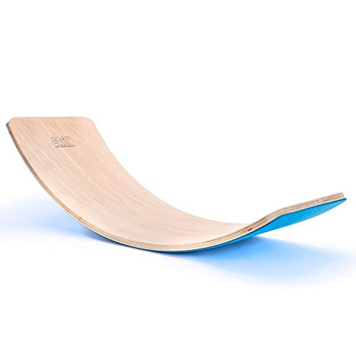 """Erin - Balance Board """"Blau"""" aus Birken Holz für Kinder & Erwachsene - Wackelboard für Motorik Training mit Filz Rückseite - Wackelbrett Wippe zum Balancieren - Boards für Geschicklichkeitstraining"""