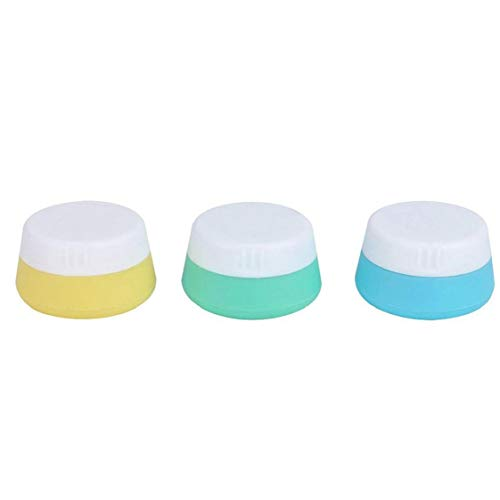 LAVALINK 3pcs Leakproof Silikon Reise Kosmetische Behälter, Leer Make-up Gesichtscreme Gläser Flaschen Multifunktions-Container Für Crema Powder Loser Tee Vintamin 10ml