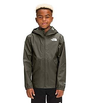 The North Face Boys Zipline Rain Jacket New Taupe Green S