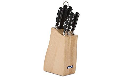 Arcos Riviera - Taco de 5 cuchillos y chaira (6pzas.)