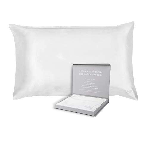 KIP- 100% Natural Mulberry Silk Pillowcase, 30 Momme, 6A Grade, Hypoallergenic, Envelope Closure, Natural Undyed Color. Oeko-TEX Certified. (Standard...