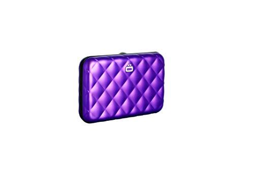 Ögon Design Aluminium-Kartenetui gesteppt purple