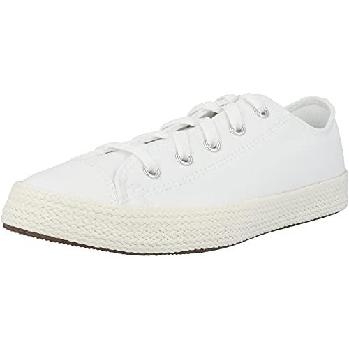 Converse Chuck Taylor All Star Espadrille Ox Weiß/Creme (White/Egret) Textil 38½ EU