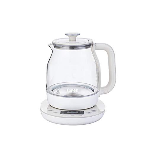 Harryfskbhuj Caldera de té eléctrica Completamente automática Espesado de Cristal Hervidor eléctrico,...