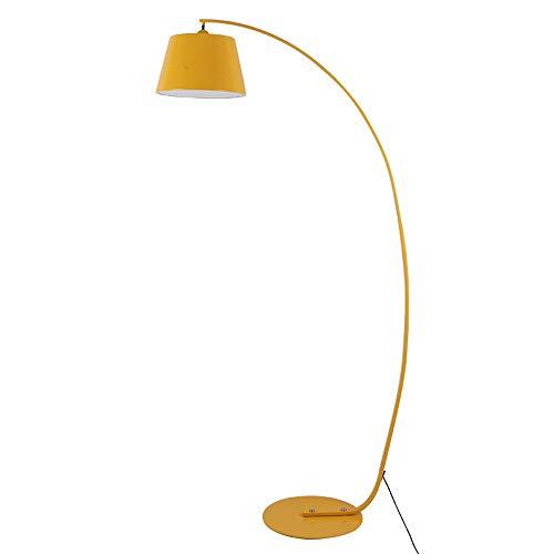 Accesorio de iluminación para el Dormitorio de la Sala de Estar de la lámpara de pie - Lámpara de Pesca nórdica, Luces de pie de Arte en Curva - Luz - Lámpara de pie Vertical E27 - Amarillo