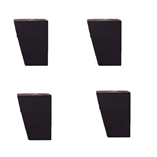 XQWERJ Patas de Muebles Patas de gabinete de TV Patas de Mesa de té Patas de Mesa Soporte de supercarga Color de Madera/Negro con Tornillos de Montaje Juego de 4