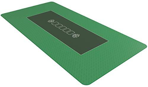 Pokermatte 90 x 180cm grün - Pokertuch - Pokerteppich - Pokertischauflage