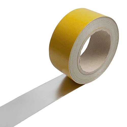 1m Alu Fiberglas Gewebe Hitzeschutz band Klebeband selbstklebend bis ca. 550°C | 50mm breit