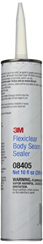 3M Flexiclear Body Seam Sealer, 08405, 1/10 gal cartridge