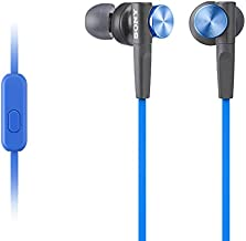 Sony MDRXB50AP Extra Bass Earbud Headphones/Headset with Mic for Phone Call, Blue