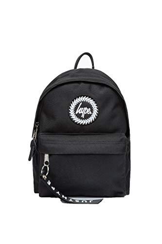 Hype Black Plain Mini Backpack