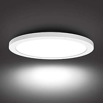 Flush Mount Ceiling Light Fixture LED Round Ceiling Light for Bathroom Porch 5000K Daylight 24W  150W Equivalent  1680 Lumens Ceiling Lamp for Kitchen Bedroom Living Room Hallway
