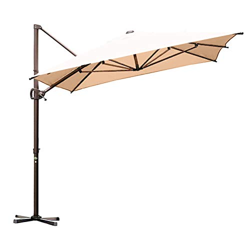Abba Patio 9 x 9 ft Square Patio Offset Hanging Umbrella Double Top Cantilever Umbrella with Easy...