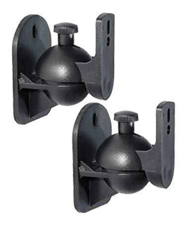 2X Wandhalterung für Lautsprecher 1 Paar Boxen Halter Schwarz Lautsprecherhalterung Belastung bis 3,5 kg
