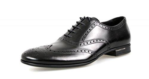 Prada Herren Schwarz Budspester Leder Business Schuhe 2EA118 43.5 / UK 9.5