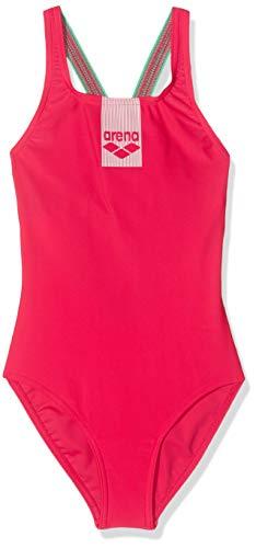 ARENA Mädchen Sport Badeanzug Basics, Freak Rose-Golf Green, 128