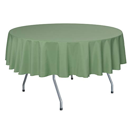 Ultimate Textile -10 Pack- 72-Inch Round Polyester Linen Tablecloth - for Wedding, Restaurant or Banquet use, Sage Green