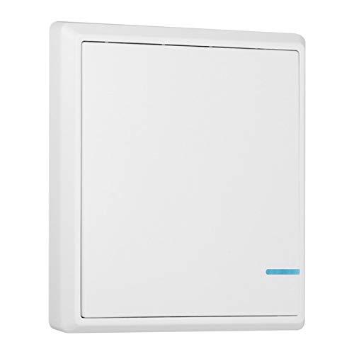 Interruttore a muro senza fili 220V, kit interruttore luce wireless Interruttore canale/doppio/triplo canale, interruttore a parete remoto wireless FR(1 Channel)