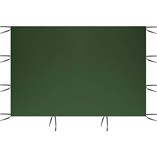 Paneles laterales para tienda de campaña, 3 x 2 m, carpa impermeable plegable, antilluvia, resistente a los rayos UV, para fiestas, camping, playa (sólo incluye un lado) (verde, sin ventanas)