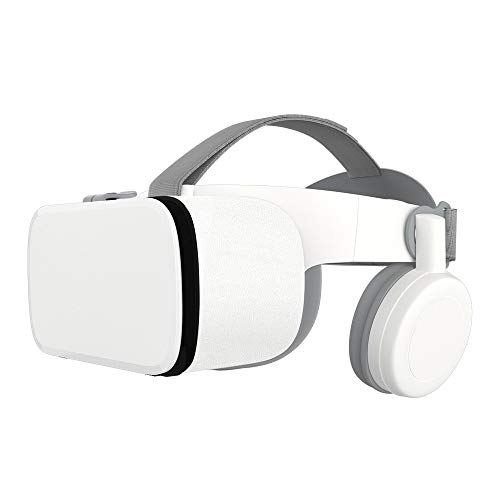 Best Price! LHTE Bluetooth 3D Glasses, Virtual Reality Box Google Cardboard Stereo Mic Headset Helme...
