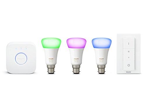 Philips-Hue-Leuchtmittel-Set, weißes und farbiges Ambiance-Licht, kabellose Beleuchtung, 6,5W E14LED mit kleiner Edison-Schraubbirne, 2x Hue weiß und farbige Ambiance 6,5-W-E14-Kerzen-Lampen, perfekte Passform, funktioniert mit Alexa Starter-