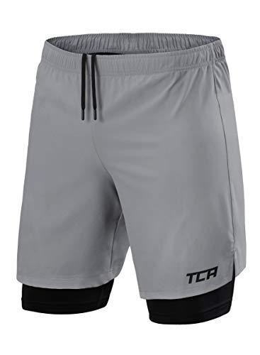 TCA Homme Ultra 2 en 1 Short de Course à Poche...