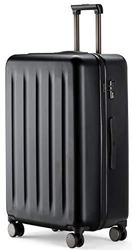 90FUN Maleta de Cabina rígida I Equipaje de Mano Ligero 4 Ruedas con Cerradura TSA I 55,5 x 37,5 x 22,3 cm (Negro, S)