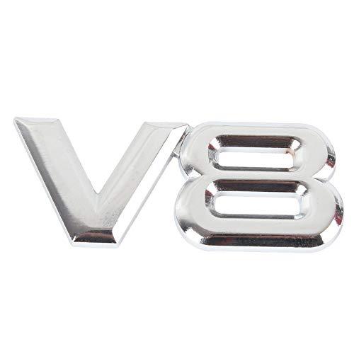 1 Stücke 3D Auto Logo Emblem V8 Metall Aufkleber Abzeichen Karosserie Aufkleber Für Auto