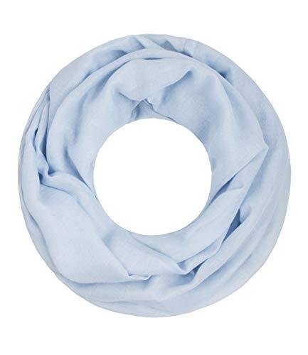 Majea Loop Cary Basic Schal Tuch Damen-schal Schlauchschal Rundschal Halstücher uni unifarben Loopschal einfarbig, 170x80, Hellblau 1