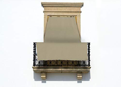 COINGROSTEX Tende da Sole per Esterno con Anelli, Misura: 145x250cm, in Tinta Unita Colore Panna