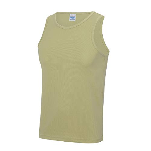 Just Cool Herren Sport Tank Top Gym XL,Wüstensand
