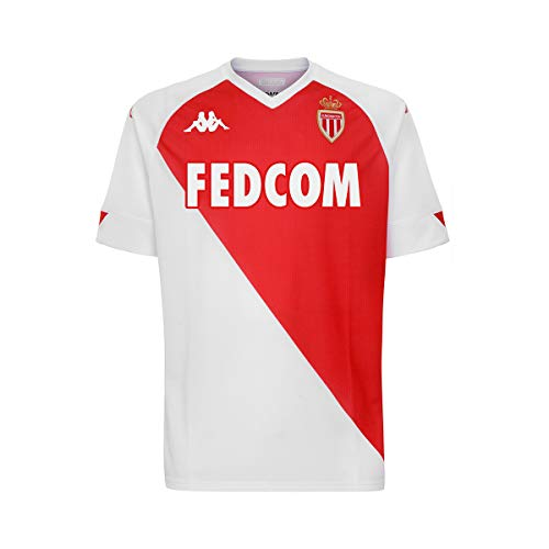 Kappa Kombat Home Monaco Camiseta, Hombre, Blanco/Rojo, Small