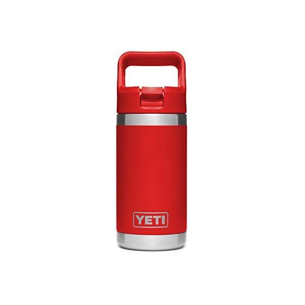 YETI Rambler Jr. 12 oz Kids Bottle, with Straw Cap, Canyon Red