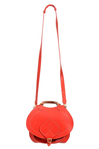 Maison Margiela Bolsa de ombro feminina de couro vermelho