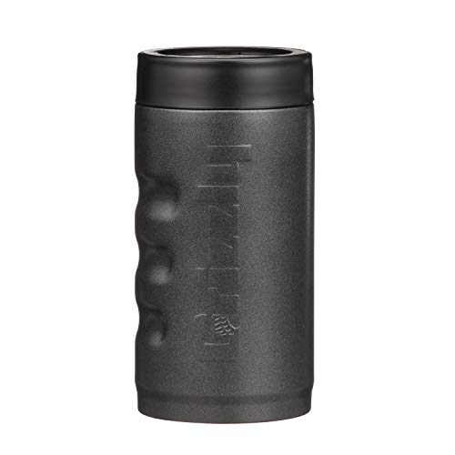 Grizzly Grip Pounder, Stainless Steel Vacuum Insulated Can Cooler, Charcoal, 16 oz