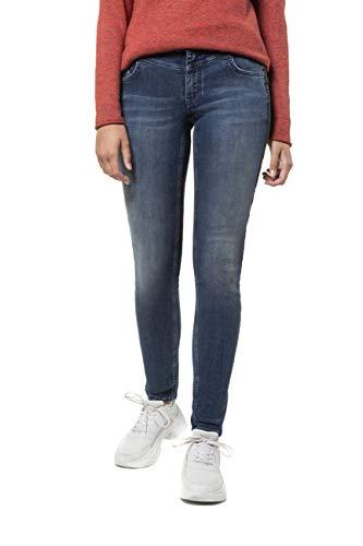 GINA LAURA Damen Jeans Julia, Galonstreifen, schmale 5-Pocket-Form Blue Denim 38 727022 92-38